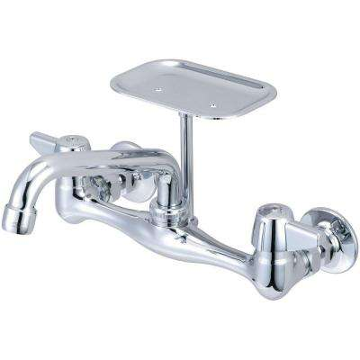 2-Handle Kitchen Faucet-On 8 in. Centers in PVD Polished Chrome