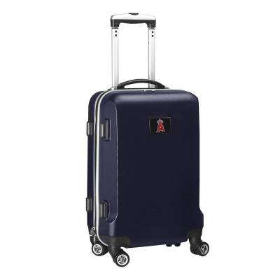 Denco MLB Los Angeles Angels Navy 21 in. Carry-On Hardcase Spinner Suitcase, Blue
