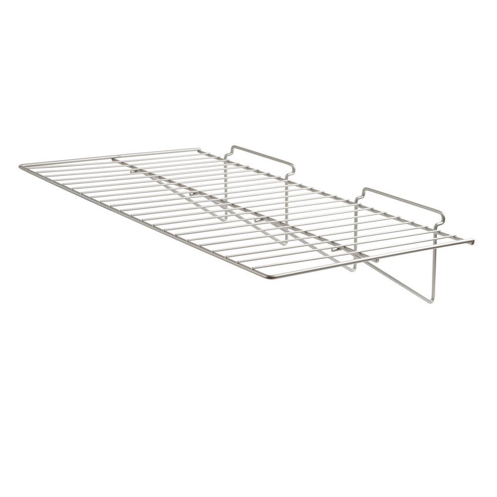 24 in. W x 12 in. D Chrome Straight Shelf