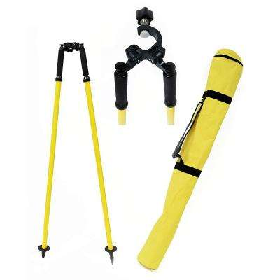 Aluminum Prism Pole Bipod in Yellow