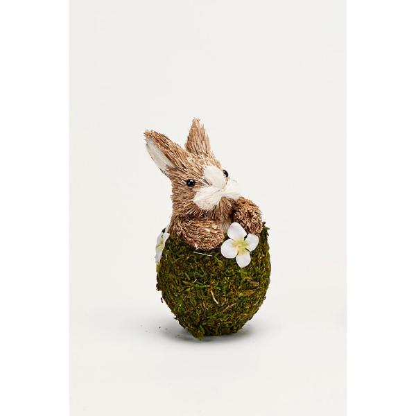 5 in. Mossy Egg with Bunny (Set of 3)