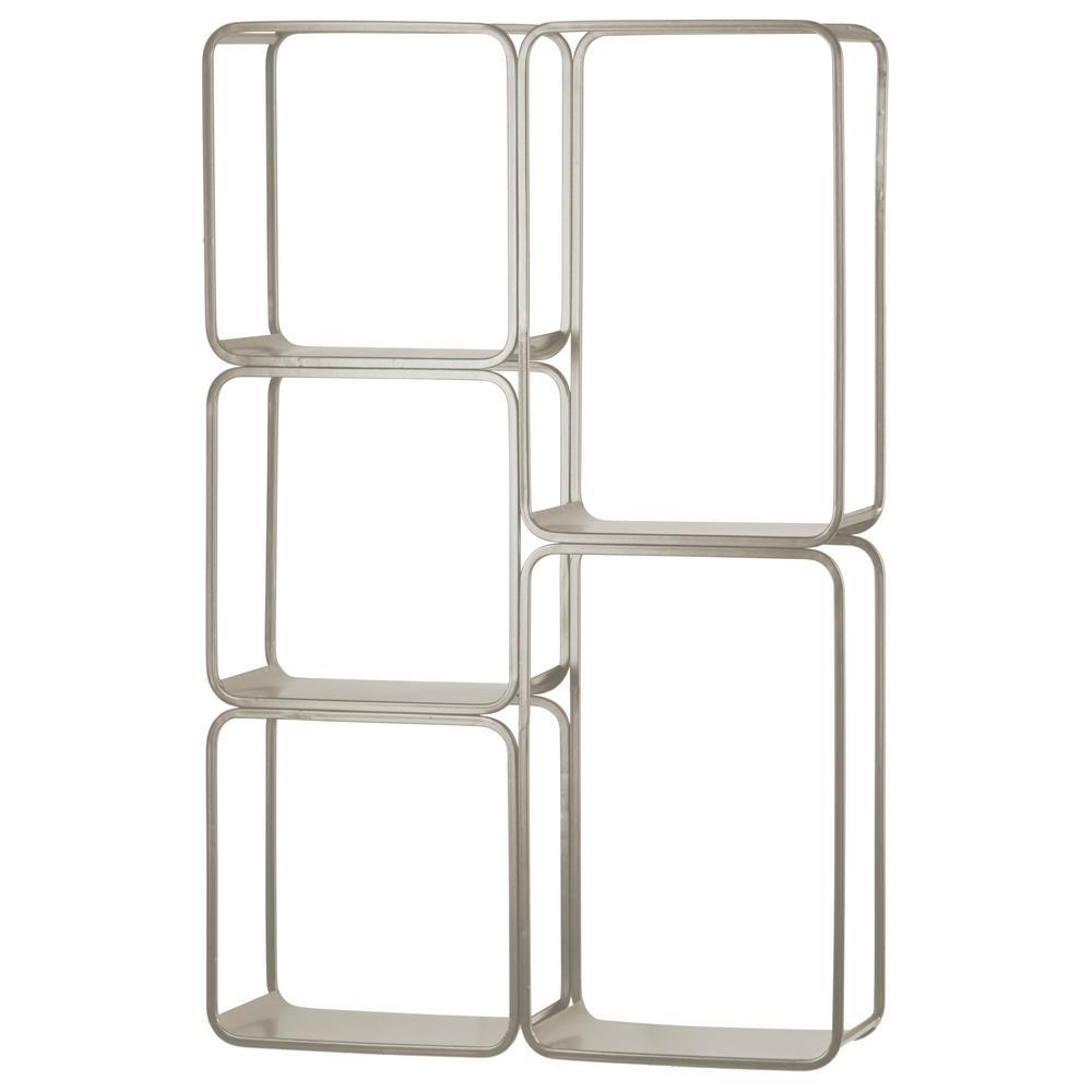 20.25 in. x 4.75 in. x 30.25 in. Silver Metal Wall Shelf