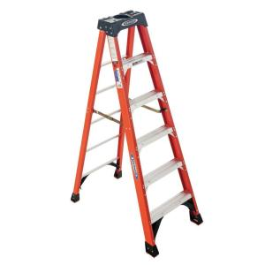 Deals on Werner 6 ft. Fiberglass Step Ladder 300 lb. Capacity NXT1A06