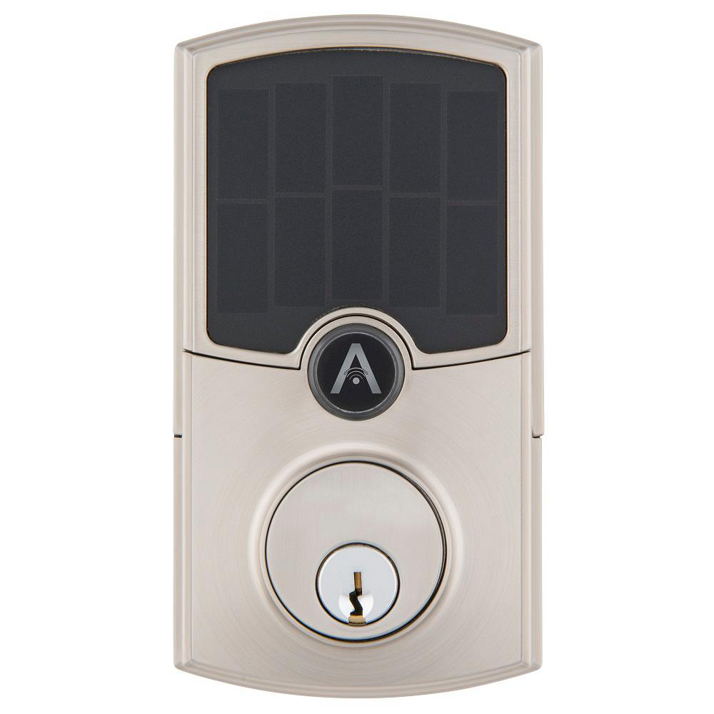 Array by Hampton Barrington Satin Nickel WiFi Smart Electronic Deadbolt