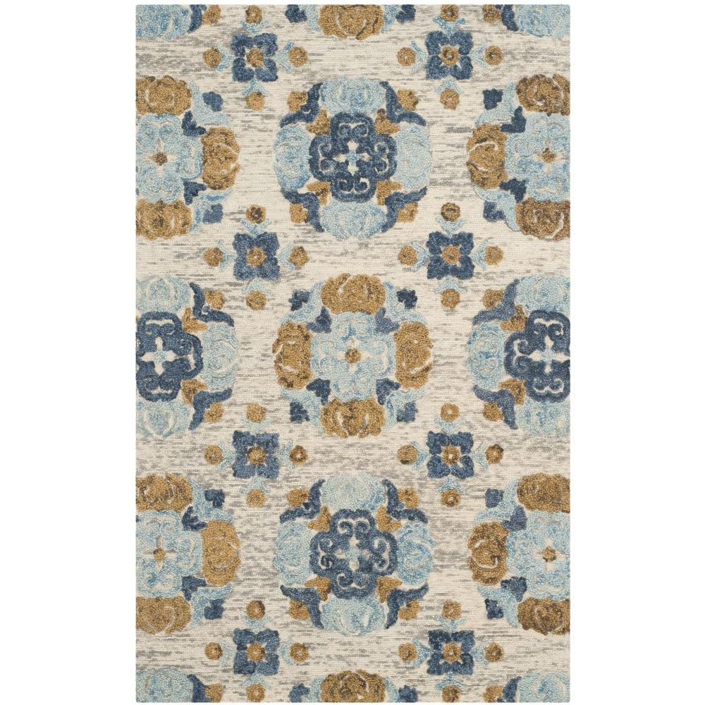 Blossom Beige/Multi 4 ft. x 6 ft. Area Rug
