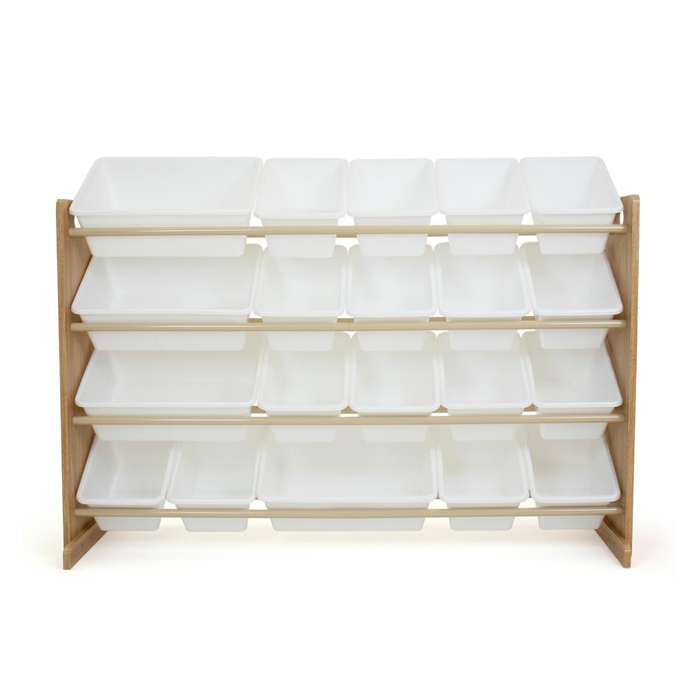 Journey Natural/White Extra Large Toy Storage Organizer with 20 Storage Bins