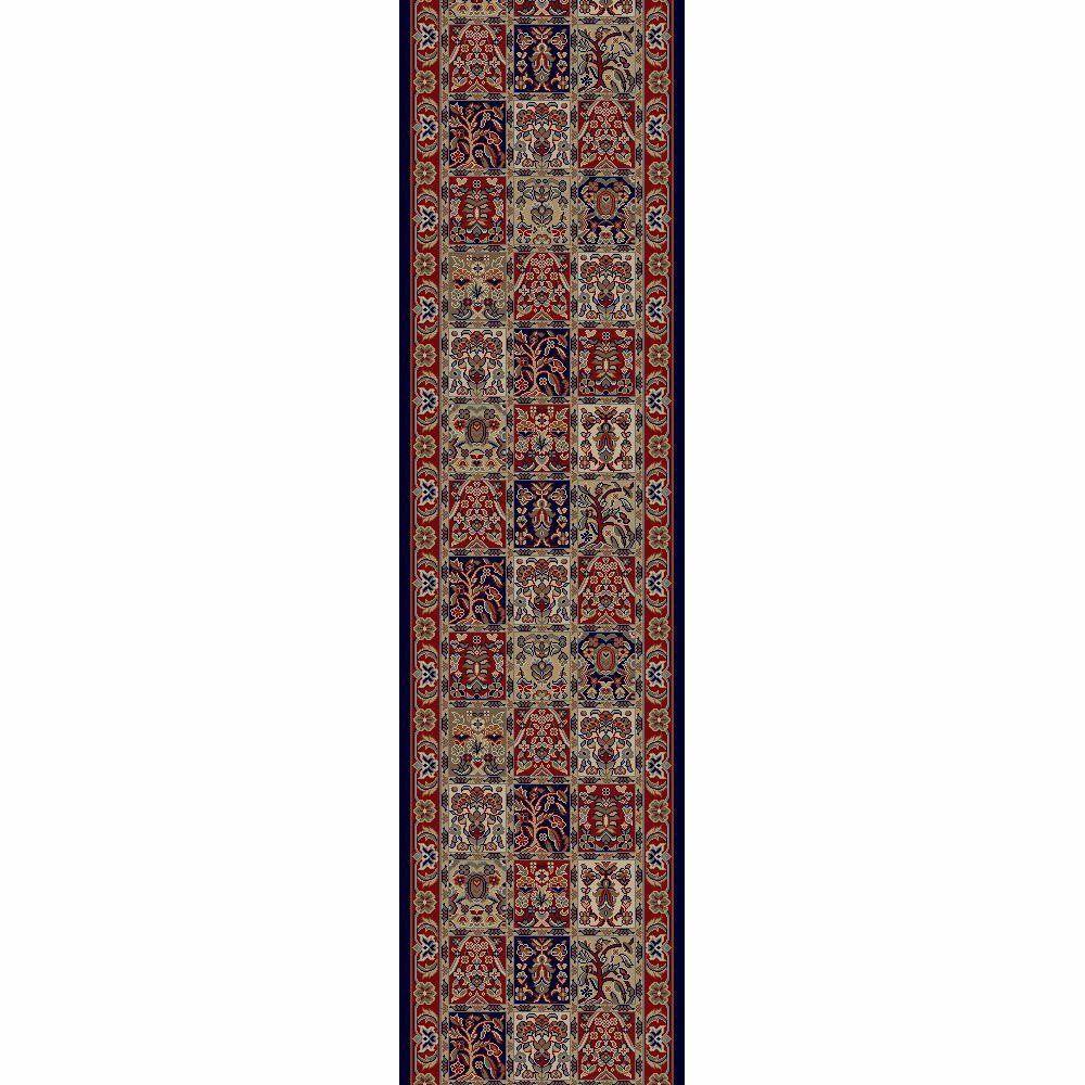 Jewel Panel Red 2 ft. x 8 ft. Runner Rug