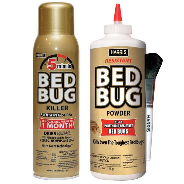 16 oz. 5-Minute Bed Bug Killer Foaming Spray and 4 oz. Resistant Bed Bug Powder Value Pack
