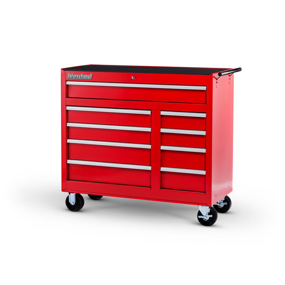 International 42 in. Workshop Series 9-Drawer Cabinet, Red