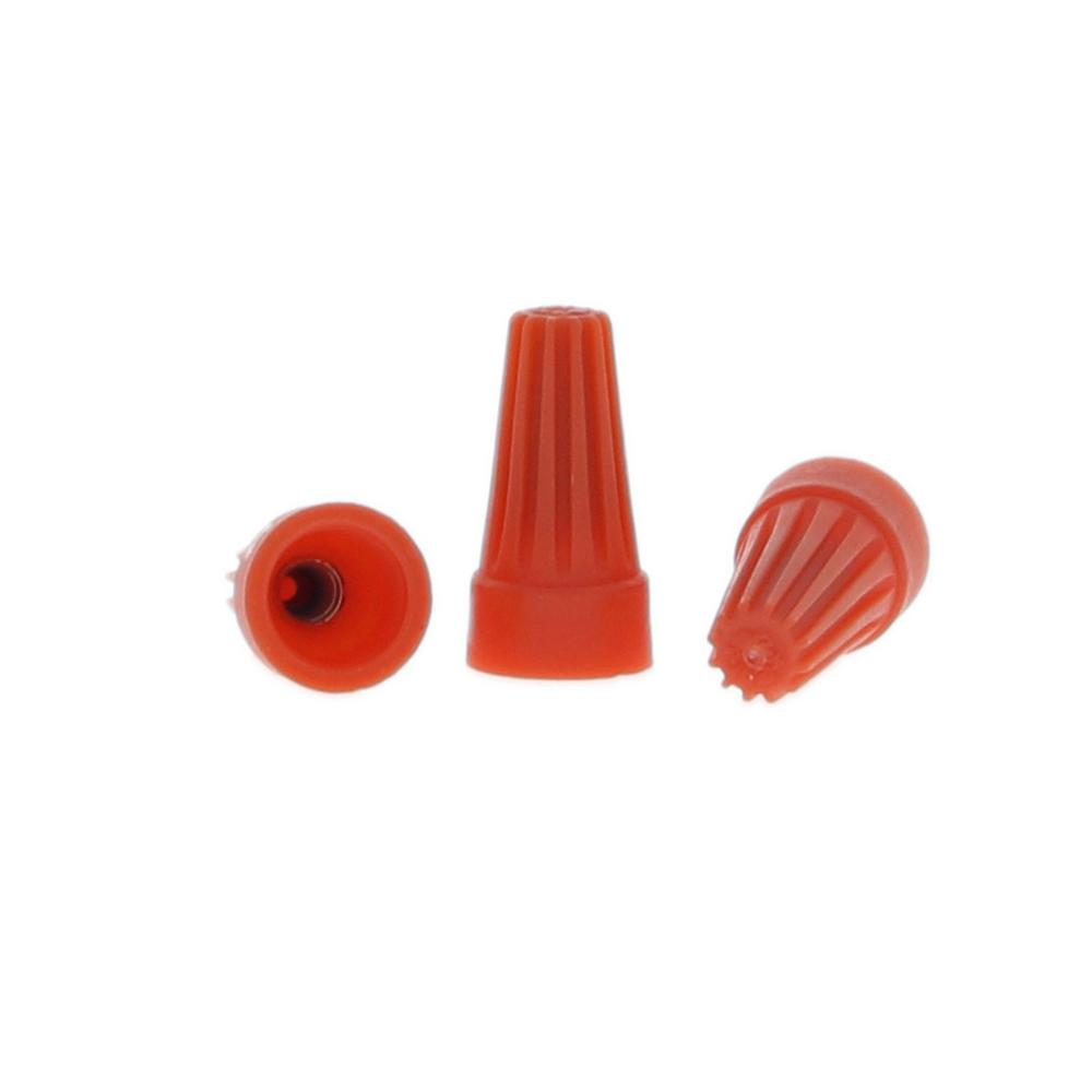 Orange Wire Connectors (Standard Package, 5 Packs of 30)