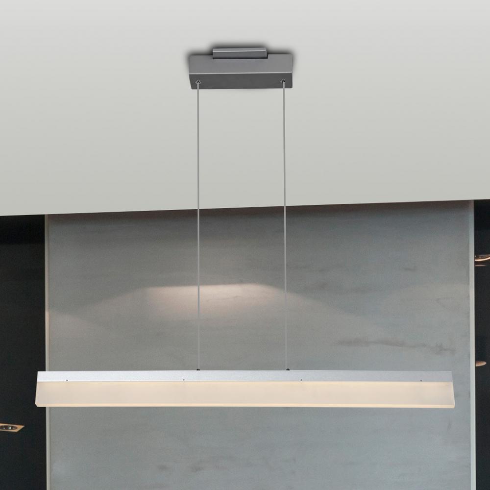 Procyon 21-Watt Silver Integrated LED Linear Chandelier