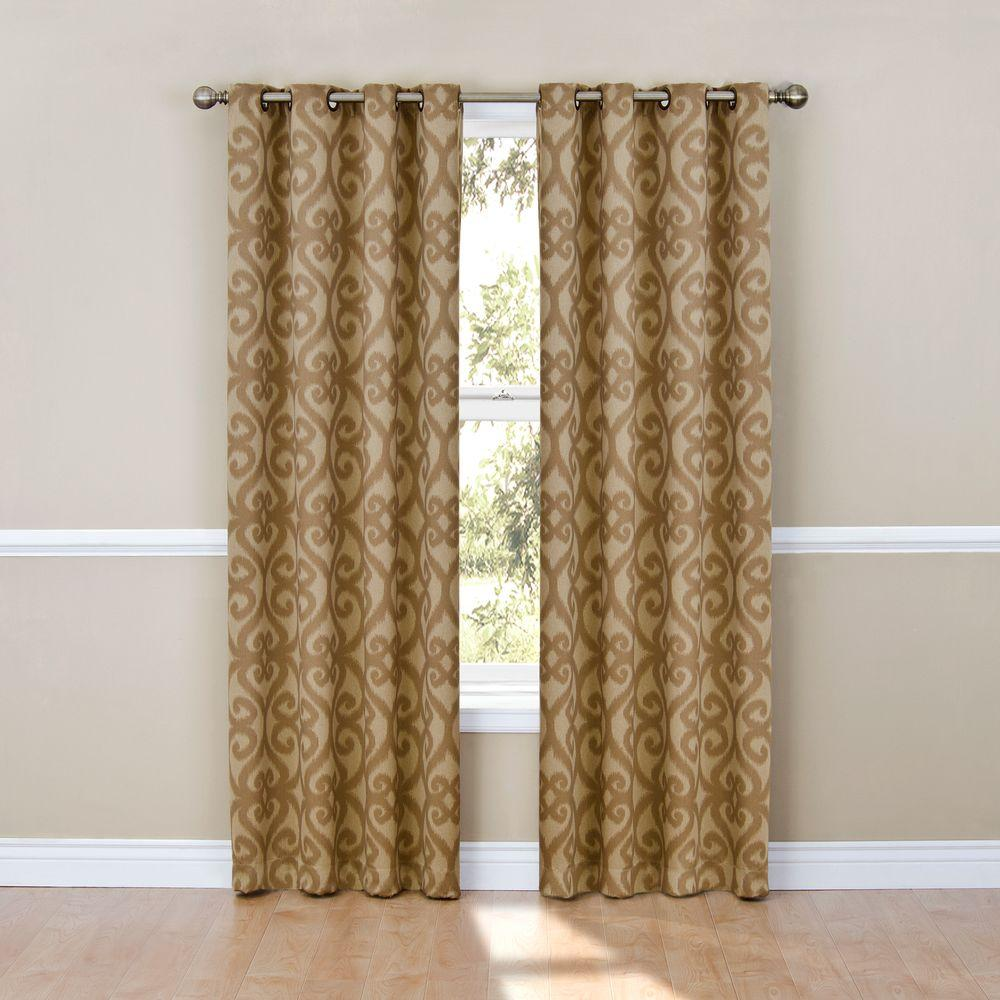 Patricia Blackout Cafe Grommet Curtain Panel, 84 in. Length (Price Varies