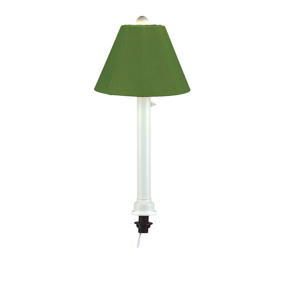 Patio Living Concepts Catalina 28 In. White Umbrella Outdoor Table Lamp  With Palm Shade