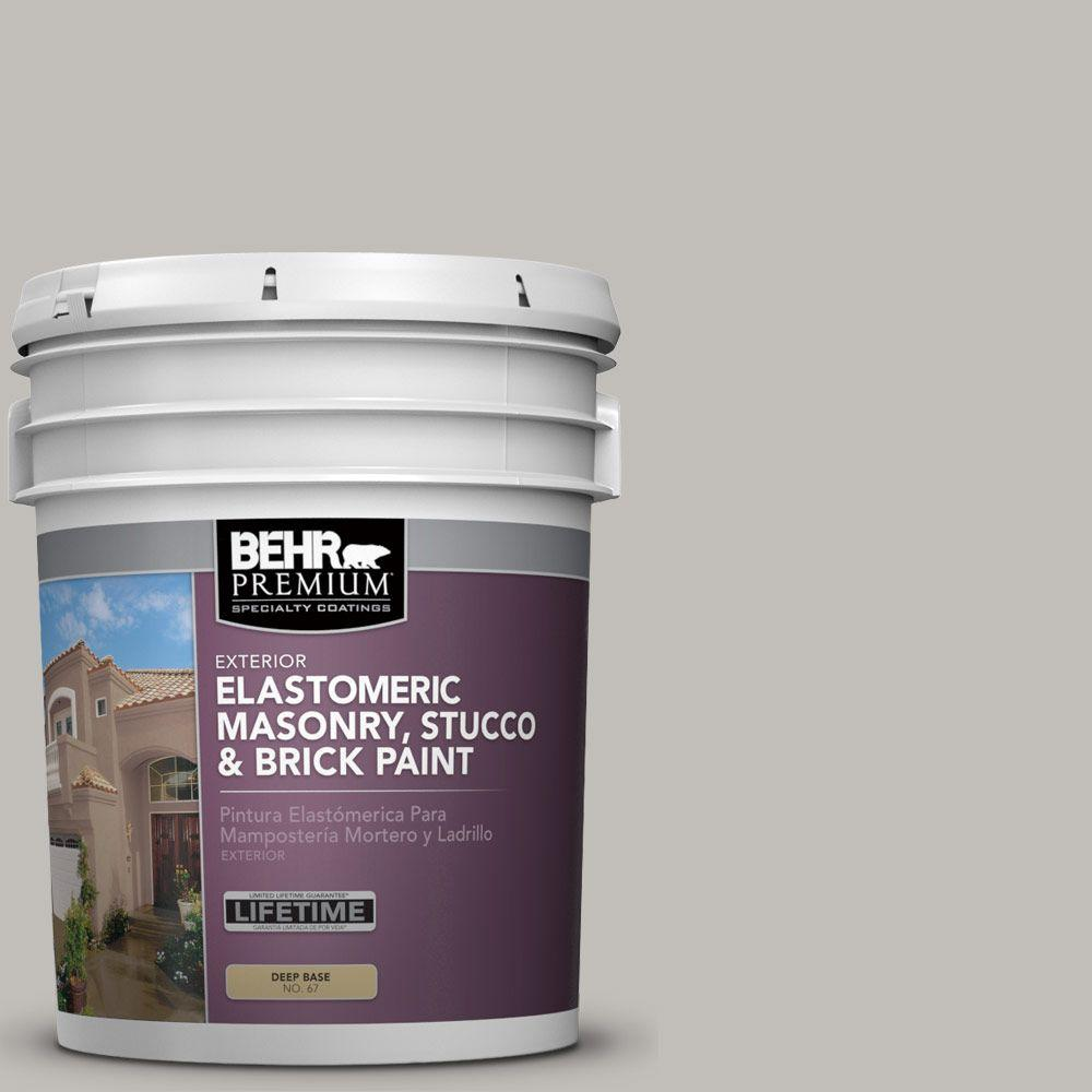 BEHR PREMIUM 5 gal. #MS-80 Granite Elastomeric Masonry, Stucco and Brick Exterior Paint