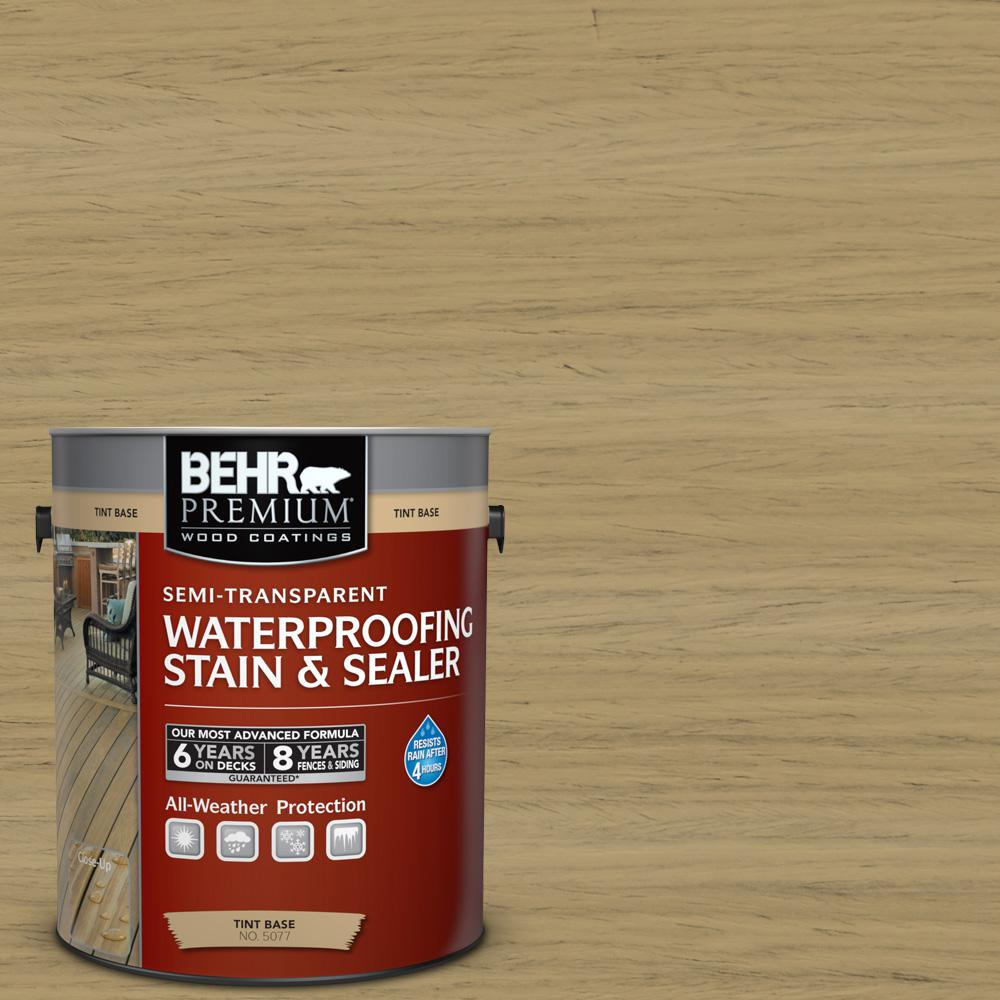 1 gal. #ST-145 Desert Sand Semi-Transparent Waterproofing Exterior Wood Stain