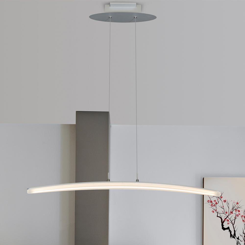 24W Haeidi Collection Silver Integrated LED Adjustable Modern Linear Chandelier