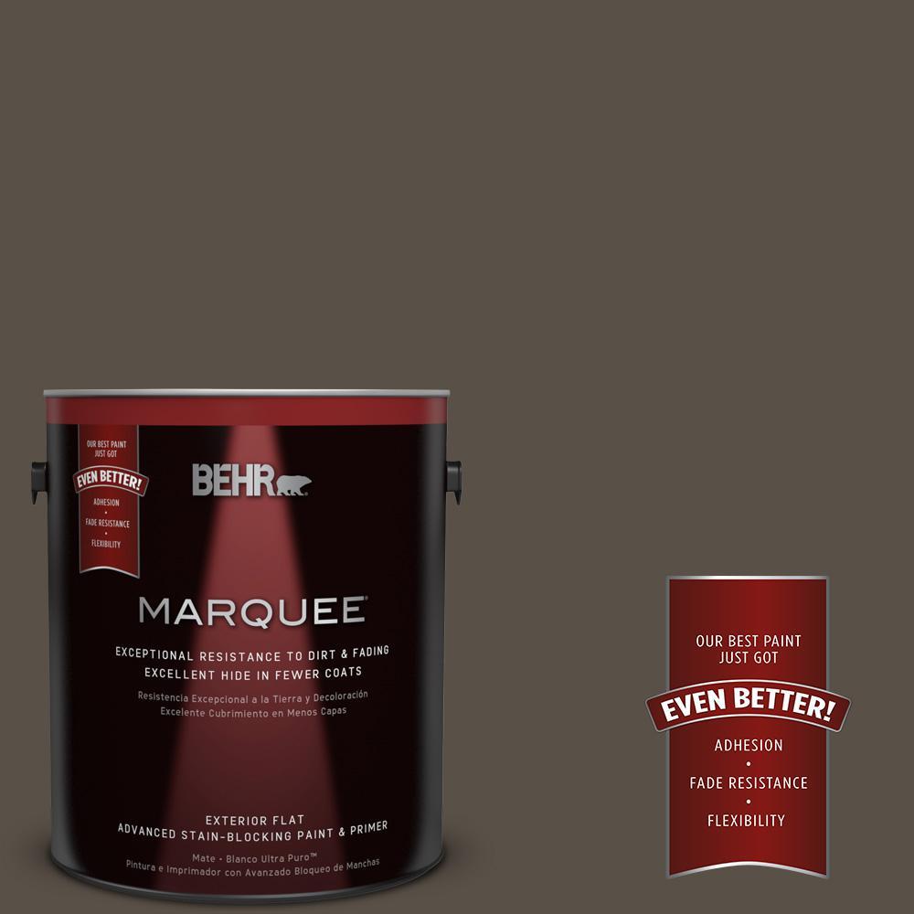 BEHR MARQUEE 1-gal. #N360-7 Potting Soil Flat Exterior Paint