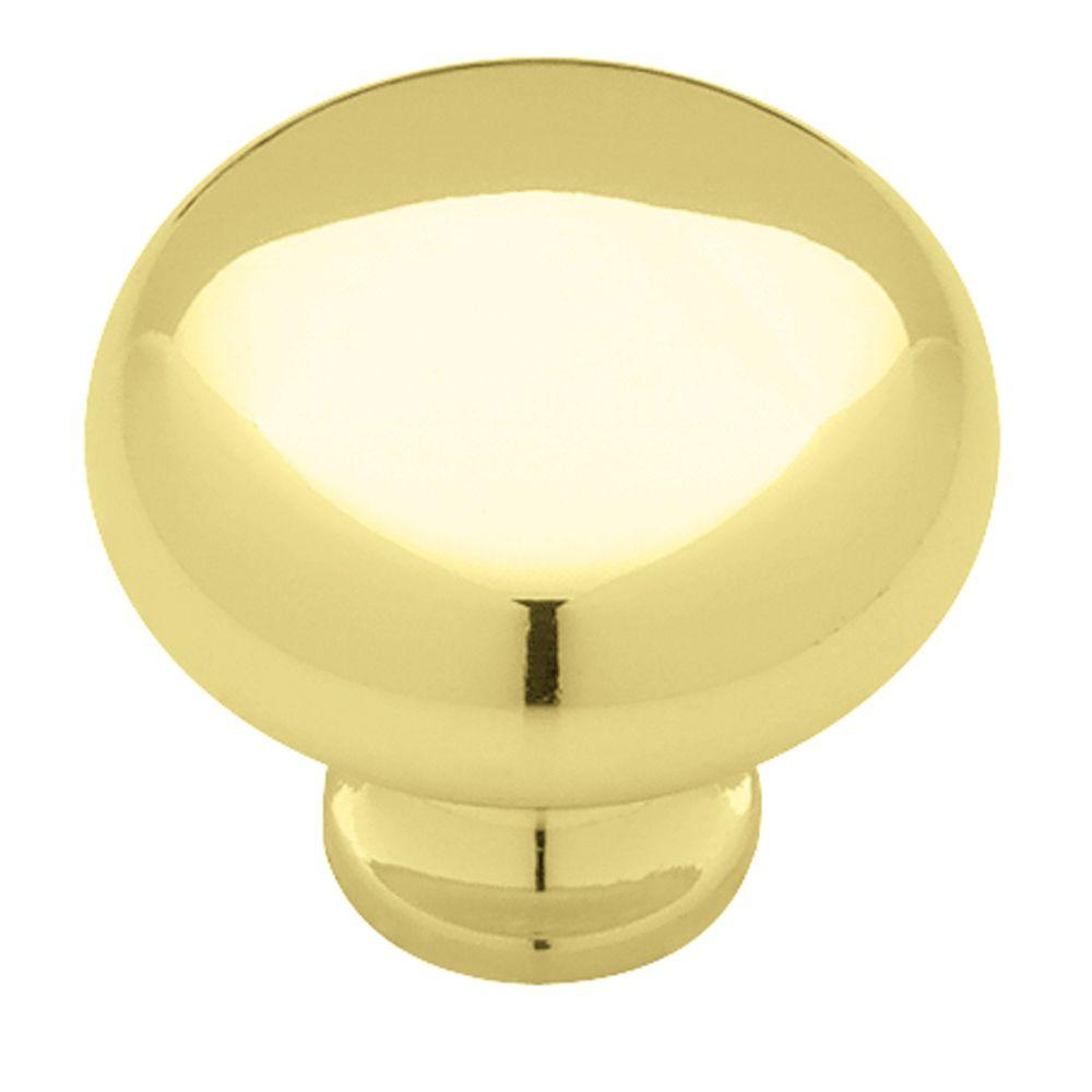 Liberty 1-1/4 in. Brass Solid Round Cabinet Knob