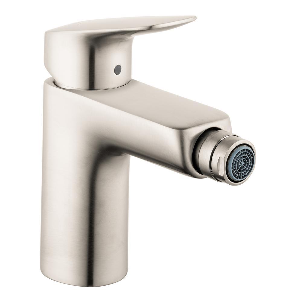 Logis Single-Handle Bidet Faucet with Drain in Brushed Nickel