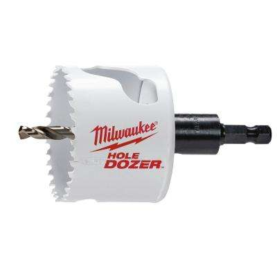 2-1/2 in. Hole Dozer Bi-Metal Hole Saw with 3/8 in. Arbor & Pilot Bit