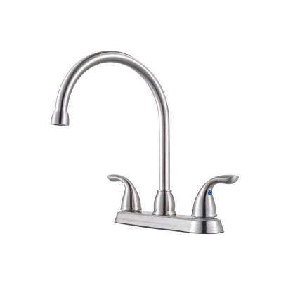Pfirst Series 2-Handle Standard Kitchen Faucet in Stainless Steel