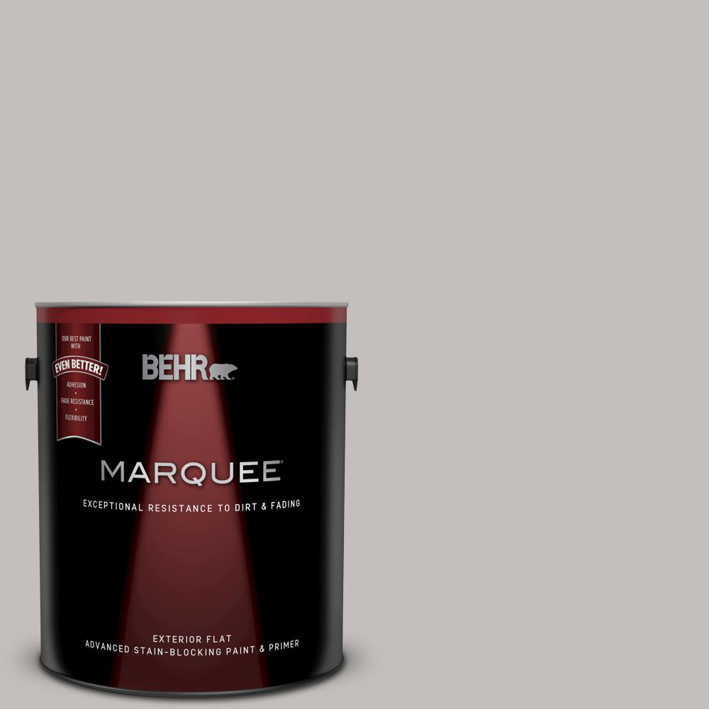 BEHR MARQUEE 1 gal. #PPU18-10 Natural Gray Flat Exterior Paint and Primer in One