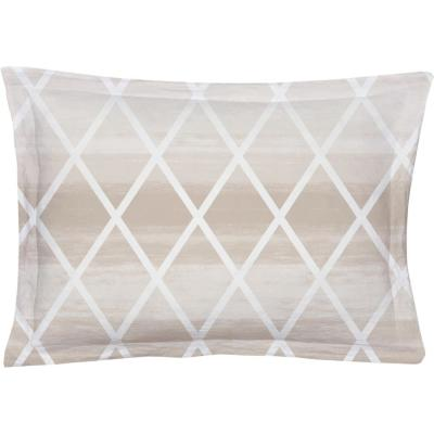Geomania Beige Queen Pillow Cover (Set of 2)