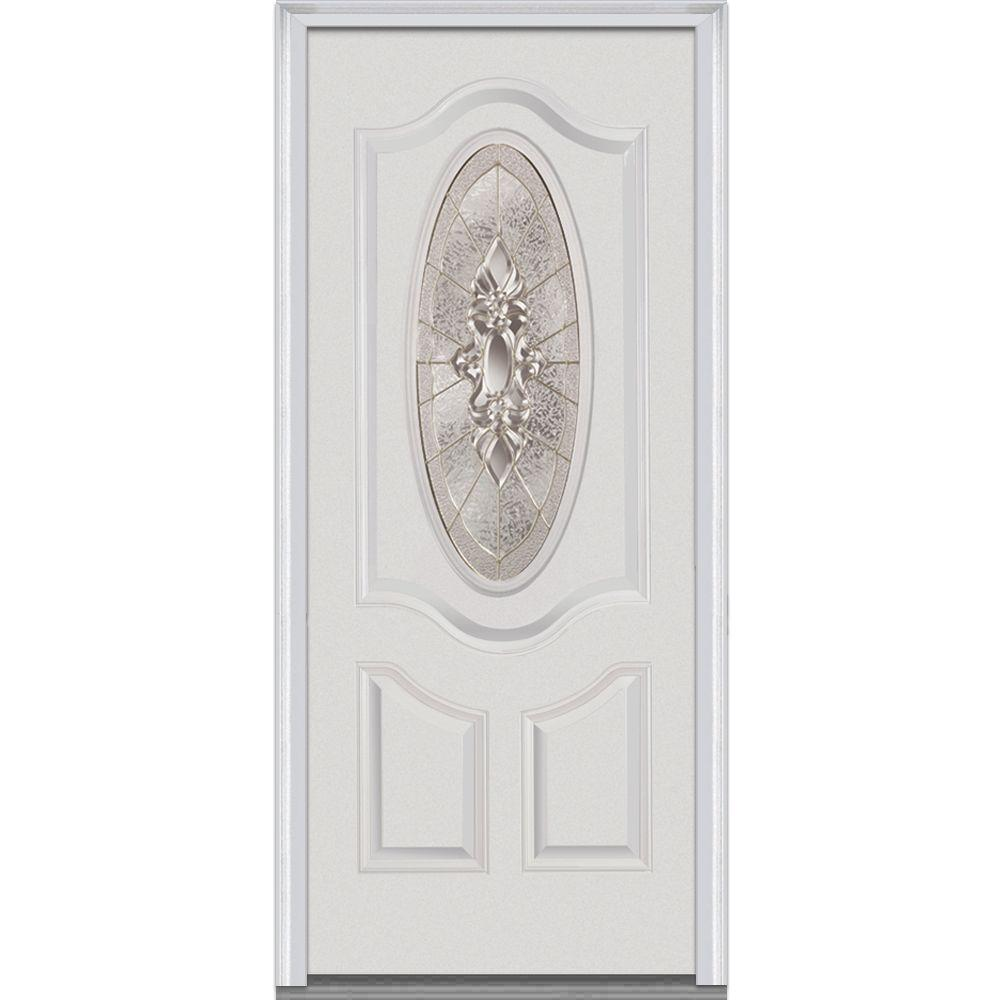 36 in. x 80 in. Heirloom Master Left Hand Oval Lite