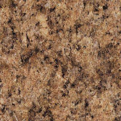 3 in. x 5 in. Laminate Countertop Sample in Milano Amber with Premium Quarry Finish