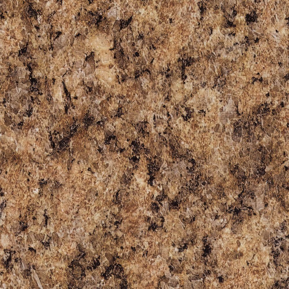 3 in. x 5 in. Laminate Countertop Sample in Milano Amber with Premium Quarry Finish