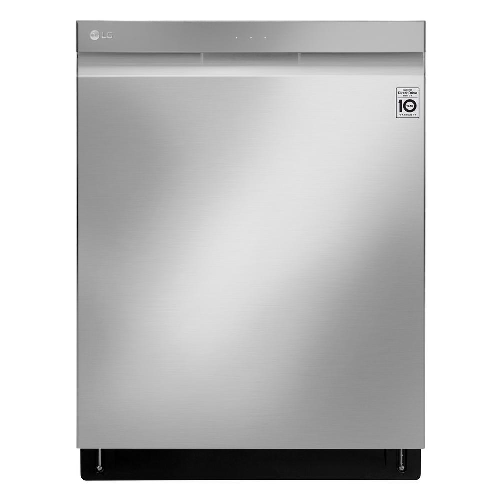 LG Electronics Top Control Tall Tub Wi-Fi Enabled Dishwasher with QuadWash and TrueSteam in Stainless Steel, 44 dBA