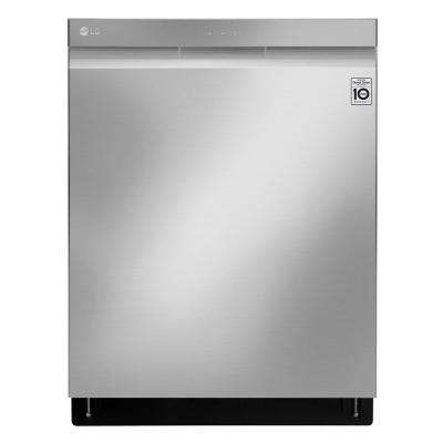 Top Control Tall Tub Wi-Fi Enabled Dishwasher with QuadWash and TrueSteam in Stainless Steel, 44 dBA