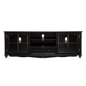 Southern Enterprises Lenox Antique Black Entertainment Center by Southern Enterprises