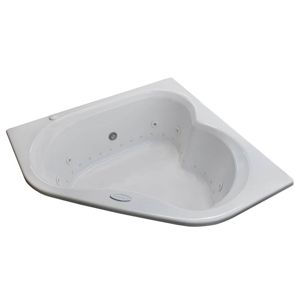 Universal Tubs Beryl 5 ft. Acrylic Corner Drop-in Air and Whirlpool ...
