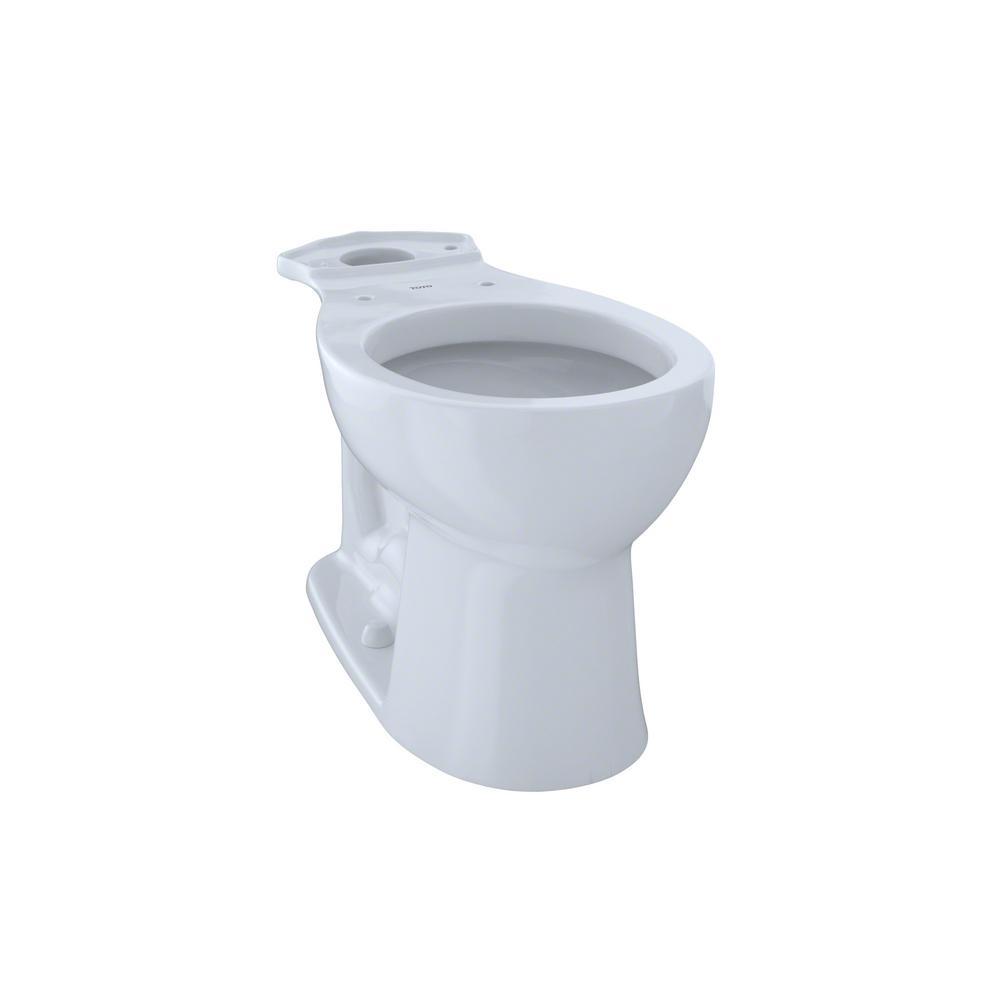 TOTO Entrada Round Toilet Bowl Only in Cotton White