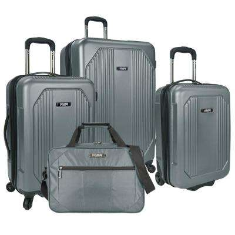 Bloomington 4-Piece Spinner Luggage Set, Grey