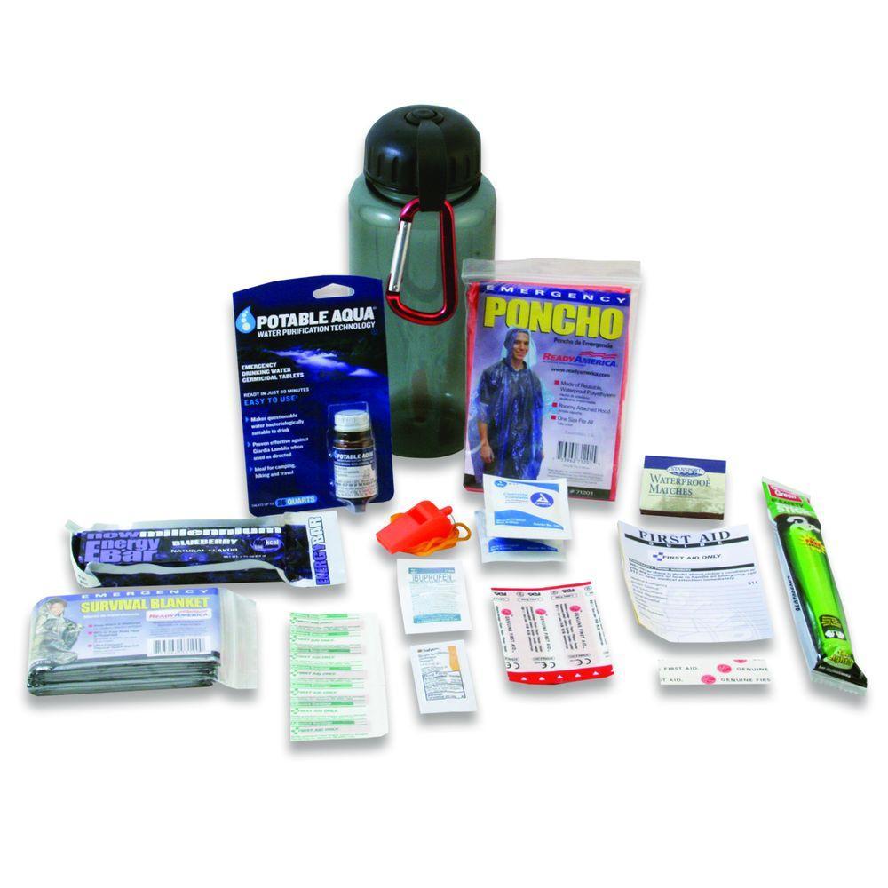 Ready America Water Bottle Survival Kit, Deluxe