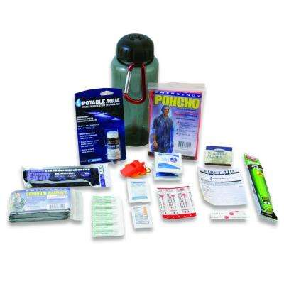 Water Bottle Survival Kit, Deluxe