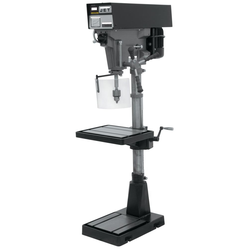 1 HP 15 in. Floor Standing Drill Press, Variable Speed, 115/230-Volt,