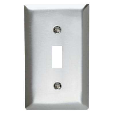 302 Series 1-Gang Toggle Wall Plate, Stainless Steel