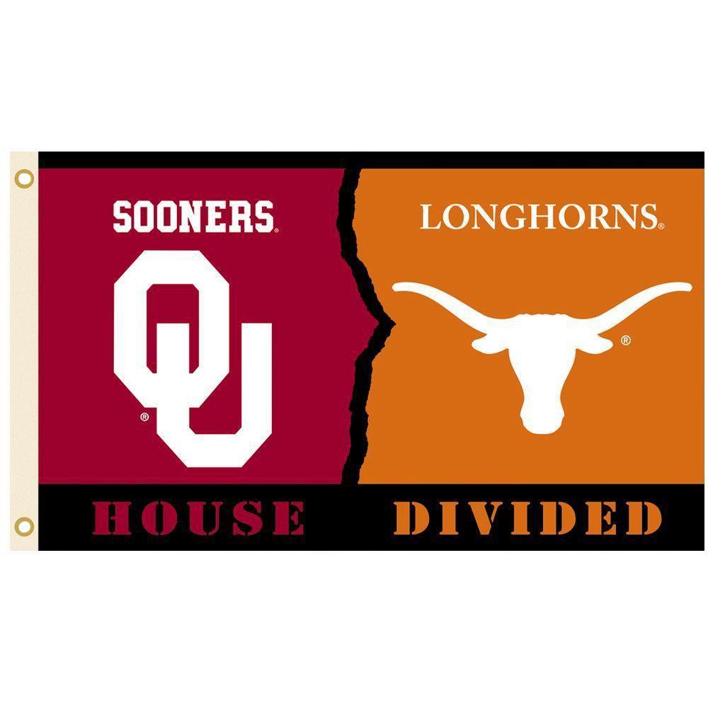 NCAA 3 ft. x 5 ft. Oklahoma/Texas Rivalry House Divided Flag