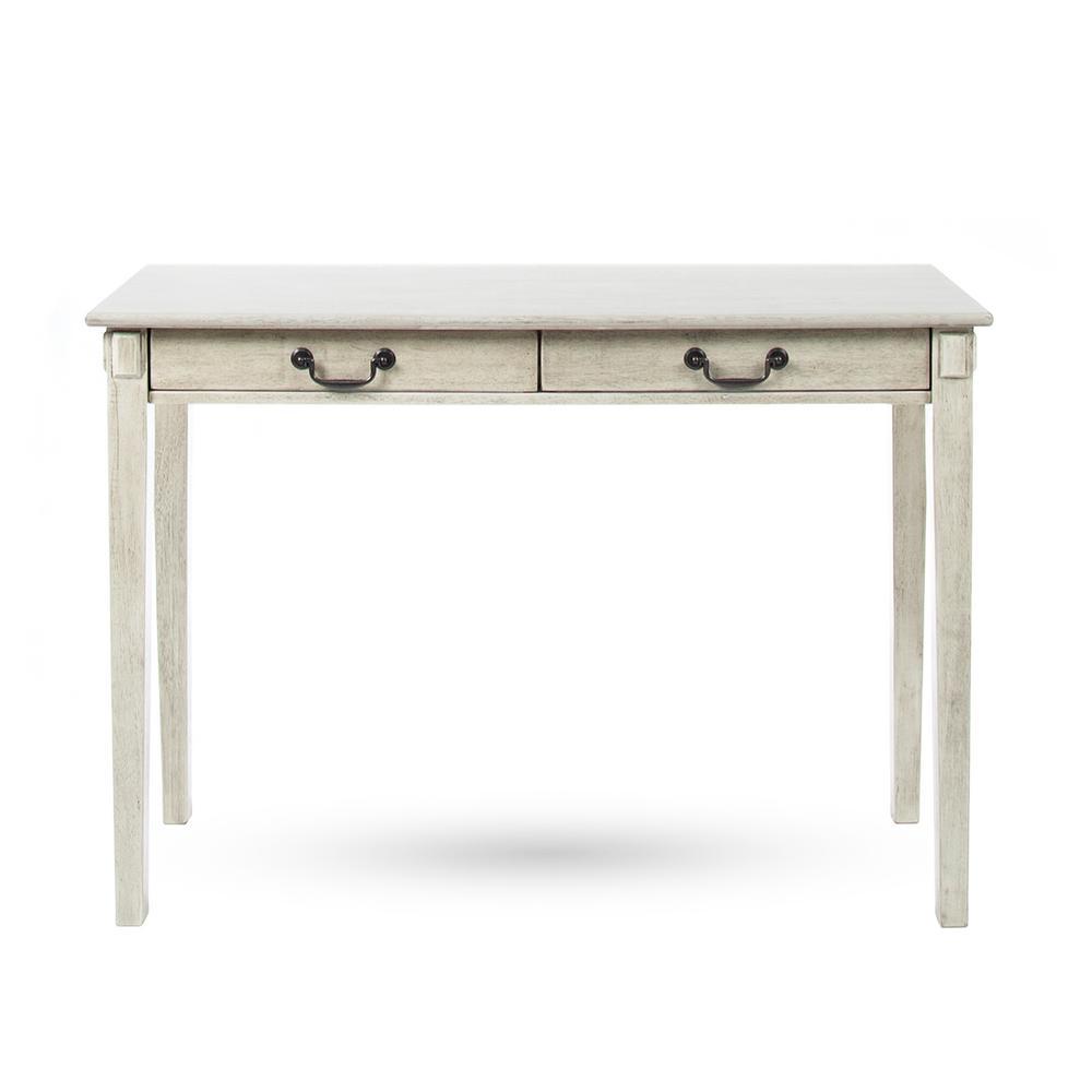 Celia Classic Metallic Gray Acacia Wood 2-Drawer Console Table