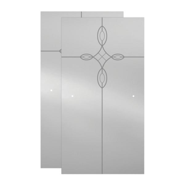 Delta Mandara 60 X 58 3 4 In Frameless Contemporary Sliding Bathtub Door In Chrome With Tranquility Glass 2439120 The Home Depot