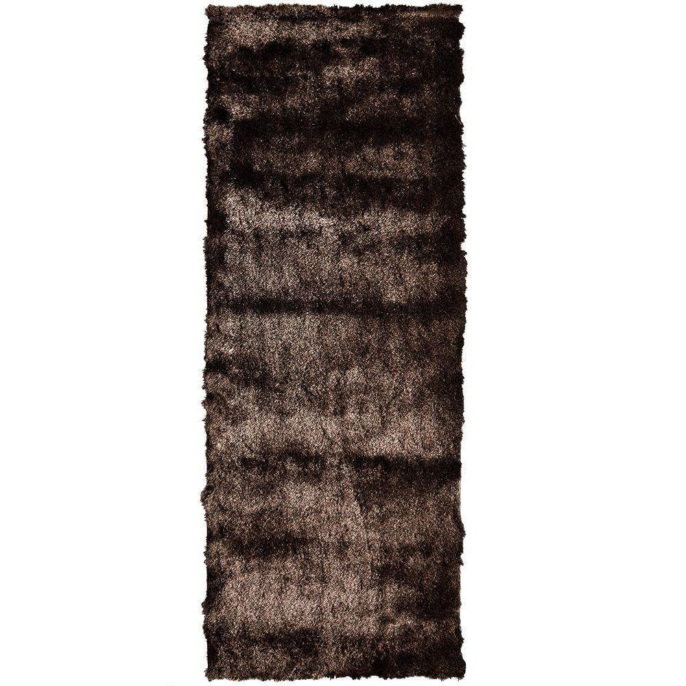 Home Decorators Collection So Silky Chocolate 2 Ft X 15 Runner Rug