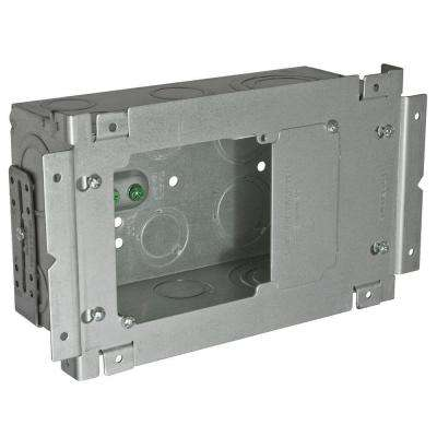 4-11/16 in. Sqaure Welded Large Capacity Box, 7-3/4 in. Wide x 3-1/4 in. Deep with 1/2 in. to 2 in. KO's (6-Pack)