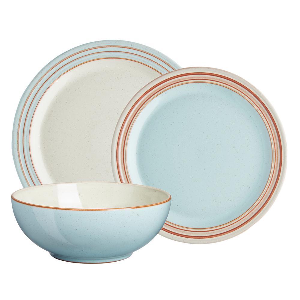 Heritage Pavilion 12-Piece Blue Dinnerware Set