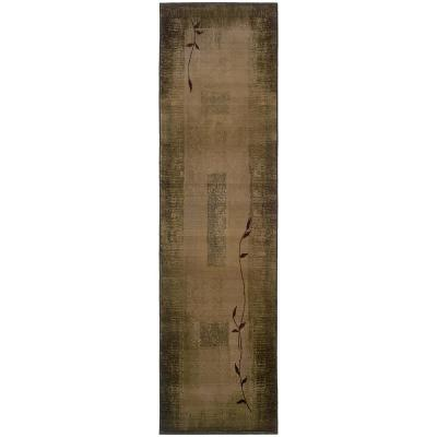 Mantra Green 3 ft. x 9 ft. Runner Rug