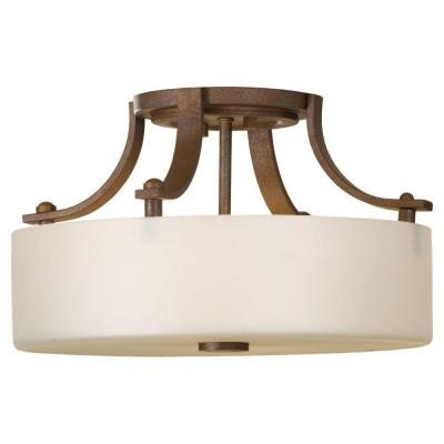 Sea Gull Lighting Sunset Drive 2-Light Corinthian Bronze Semi-Flush Mount