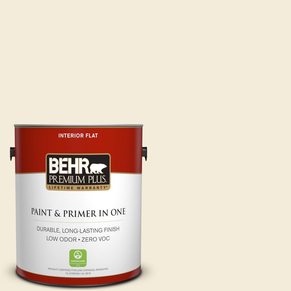 BEHR Premium Plus 1-gal. #ECC-64-2 Moonstruck Zero VOC Flat Interior Paint