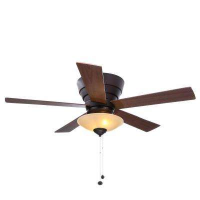 Andross 48 in. Indoor Oil-Rubbed Bronze Ceiling Fan with Light Kit